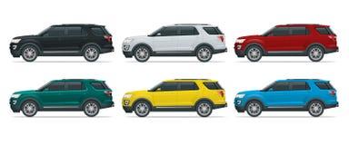 Fuori strada scriva ad automobile il trasporto moderno di VIP illustrazione di stock