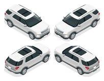 Fuori strada scriva l'automobile Trasporto moderno di VIP Illustrazione isometrica piana di vettore 3d Per i giochi di progettazi royalty illustrazione gratis