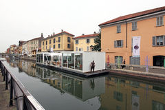 Fuorisalone at Navigli Design District Royalty Free Stock Photography