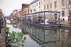 Fuorisalone at Navigli Design District Royalty Free Stock Image