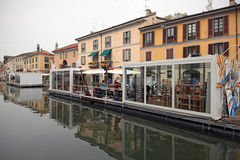 Fuorisalone at Navigli Design District Stock Images