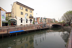 Fuorisalone at Navigli Design District Royalty Free Stock Photo