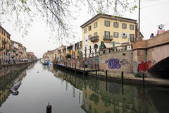 Fuorisalone at Navigli Design District Royalty Free Stock Photos