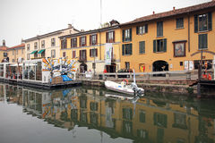 Fuorisalone at Navigli Design District Stock Image