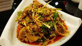 Fuqi Feipian (Tripes βόειου κρέατος και βοδιών στη σάλτσα τσίλι) - κινεζικό Sichuan πιάτο στοκ εικόνα με δικαίωμα ελεύθερης χρήσης