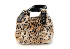 Fur bag Royalty Free Stock Photography