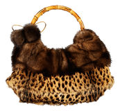 Fur bag isolated Stock Image
