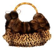 Fur bag isolated Stock Image