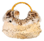 Fur bag isolated Stock Images