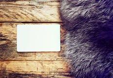 Fur black and silver fox Stock Photos