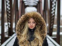 Fur Clothing, Fur, Beauty, Girl stock photography