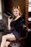 Fur Clothing, Fur, Beauty, Lady Stock Photo