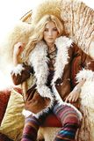Fur Clothing, Fur, Fashion Model, Supermodel Royalty Free Stock Images