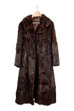 Fur coat Royalty Free Stock Photography