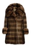 Fur coat brown Stock Photo