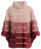 Fur coat claret. Isolated on a white background royalty free stock photos