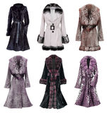 Fur coat collection Royalty Free Stock Photography