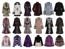 Fur coat collection Royalty Free Stock Photos