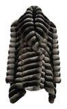 Fur coat grey Royalty Free Stock Images