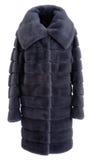 Fur coat grey Stock Images