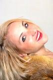 Fur-coat portrait II Stock Photography