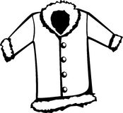 Fur coat vector illustration Stock Photos