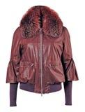 Fur collar jacket Royalty Free Stock Photos