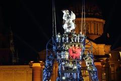 Fur dels Baus występ z milenium mężczyzna dla nowego roku Fotografia Royalty Free