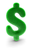 Fur  Dollar Sign (clipping path included) Stock Images