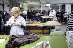 A fur factory is in city  Kastoria Stock Photo