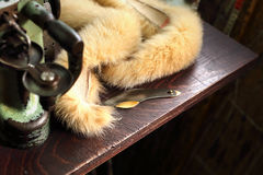 Fur of a fox Stock Images