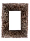 Fur Frame. A furry Frame on a white background Royalty Free Stock Photography