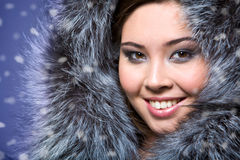 Fur girl Royalty Free Stock Photos