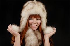 Fur girl Royalty Free Stock Image