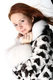Fur girl Royalty Free Stock Photography