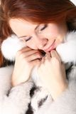 Fur girl Royalty Free Stock Images