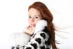 Fur girl Stock Photo