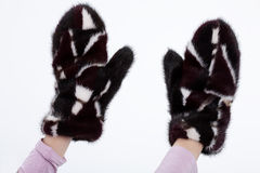 Fur Gloves Royalty Free Stock Image