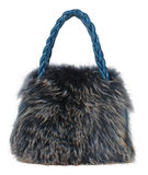 Fur handbag Stock Images