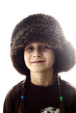 Fur hat stock photography