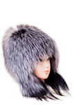 Fur hat  isolated on white background Royalty Free Stock Image