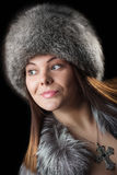 Fur hat Stock Image