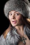 Fur hat Stock Images