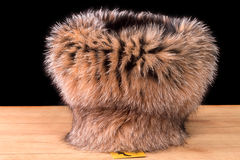 Fur Hat Women Stock Photo