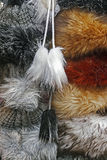 Fur hats for women Royalty Free Stock Photo
