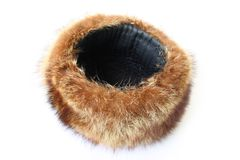 Fur headdress Royalty Free Stock Photo