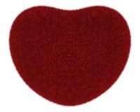 Fur heart Stock Photography
