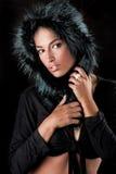 Fur hood Stock Photography