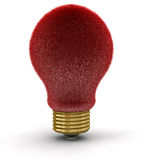 Fur Lightbulb  (clipping path included) Royalty Free Stock Image