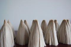 Chinese brush. Making Chinese writing brushes in wool in Huzhou royalty free stock photo